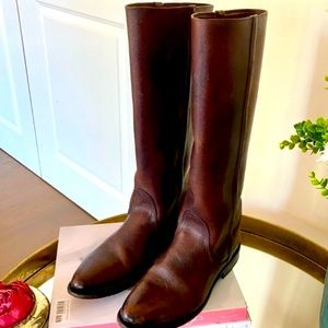 Frye leather tall riding boots size 8.5